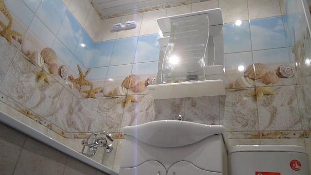 Отделка стен в ванной за 1 день пластиковыми панелями. Недорогой ремонт своими руками - LALAMASTER.RU