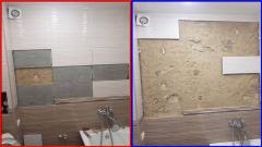 Ужасы Ремонта! Как отваливается плитка после ремонта в ванной криворуким Мастером из Авито