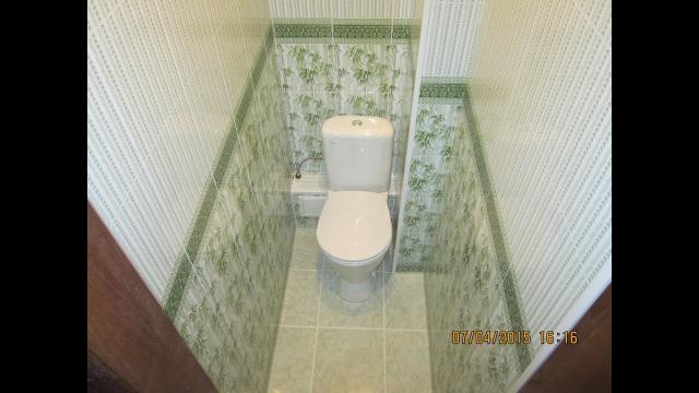 Дизайн и отделка туалета пластиком Бачетто. Секреты монтажа короба из пластика в туалете - LALAMASTER.RU