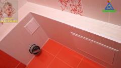 Установка люка в туалете на пластиковые панели