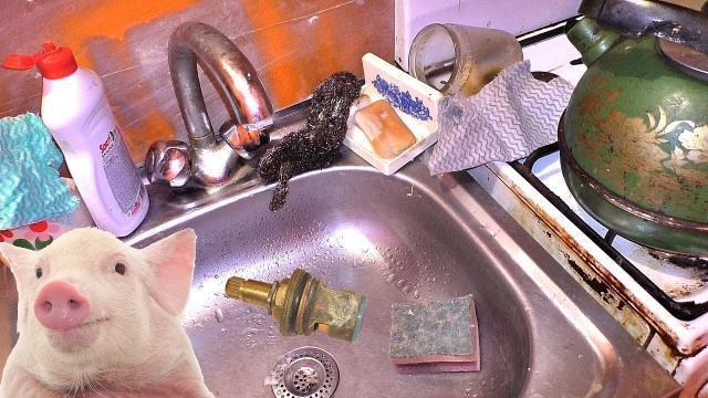 Ремонт смесителя за копейки. Кухня как свинарник - LALAMASTER.RU
