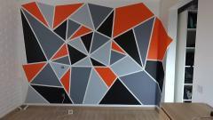 Интересное решение в ремонте! Геометрическая покраска стен