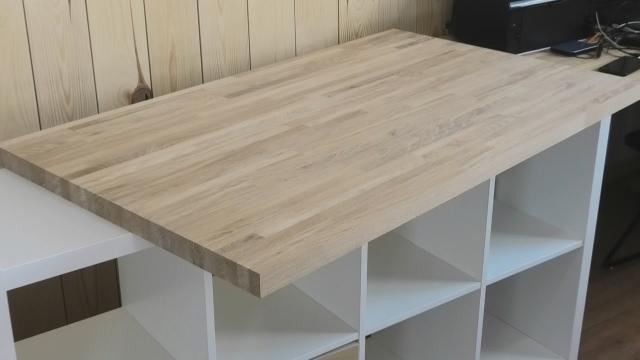 Недорогой дубовый стол из мебельного щита, который каждый может сделать своими руками - LALAMASTER.RU