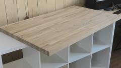 Недорогой дубовый стол из мебельного щита, который каждый может сделать своими руками