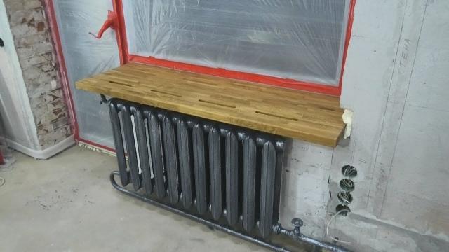 Установка деревянного подоконника, покраска батарей, ремонт кладки - LALAMASTER.RU