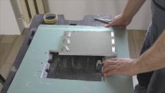 Как сделать люк под плитку на магнитах и экран под ванну за 30 минут