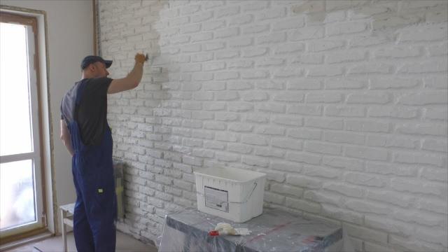 Как сделать имитацию кирпичной кладки на стену? Продолжение - LALAMASTER.RU