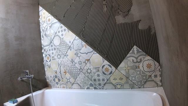 Как быстро сделать диагональную подрезку плитки - LALAMASTER.RU