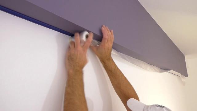 Идеальный стык краски! Двойная оклейка! Красим потолок и стены в разные цвета - LALAMASTER.RU
