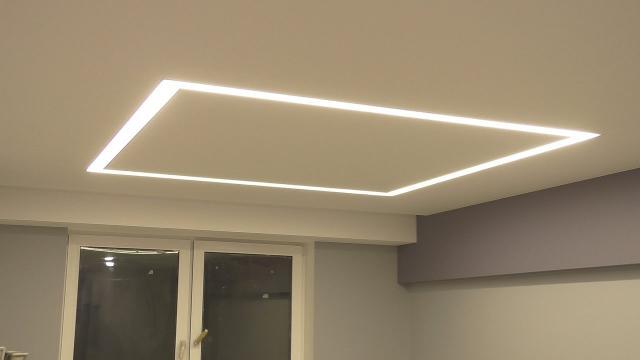 Самодельный квадрат для освещения из алюминиевых профилей и диодной ленты - LALAMASTER.RU