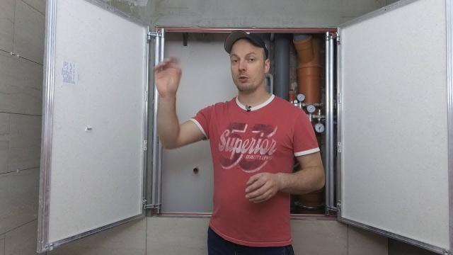 Установка большого люка - невидимки для плитки - LALAMASTER.RU